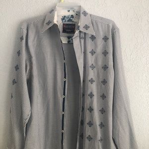English Laundry Christopher Wick Embroidered Shirt